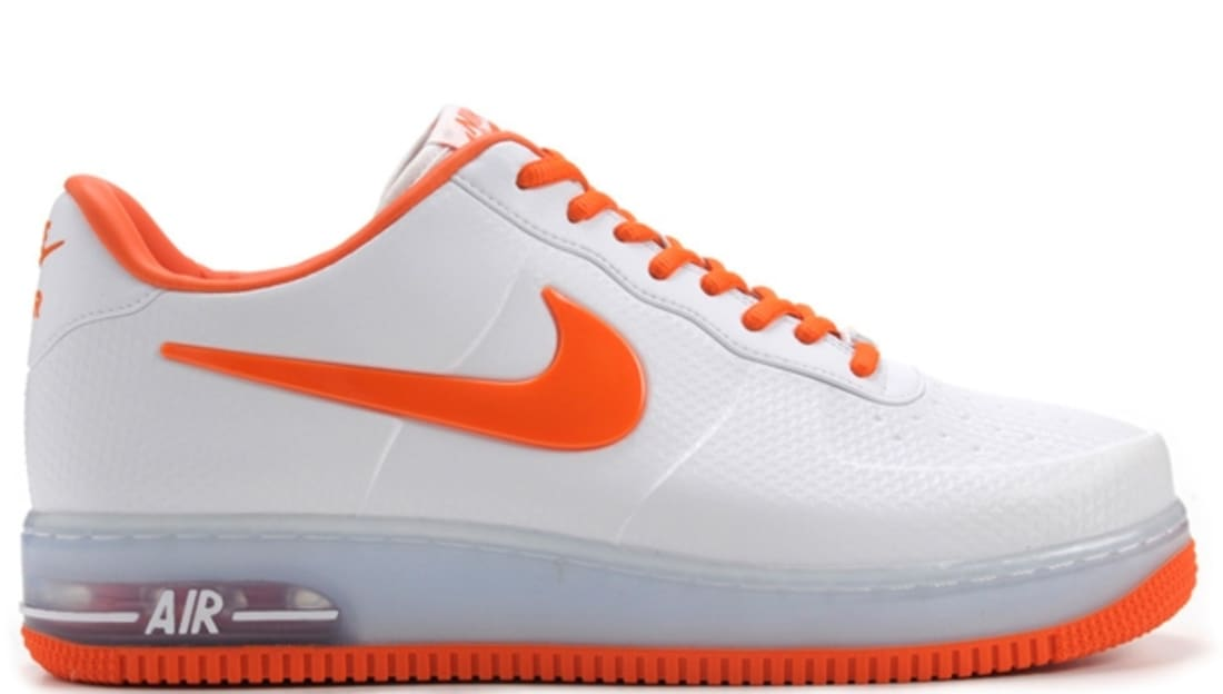 Nike Air Force 1 Foamposite Pro Low QS White/Safety Orange   Nike   Sole  Collector