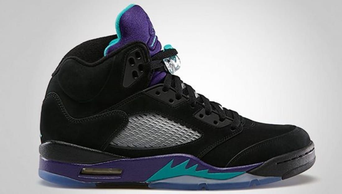 Nike Air Jordan V Black/Emerald-Grape Ice-Black Sneakers  3126225