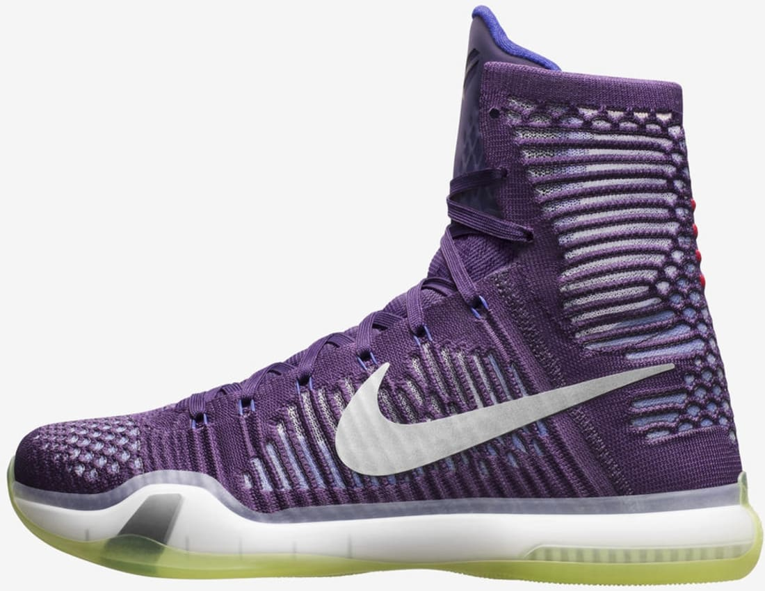 On Sale Cheap Nike Kobe 10 Elite Team Ink Persian Violet Volt Reflect Silver