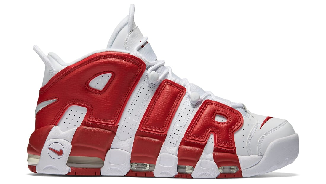 Nike More Uptempo White Red