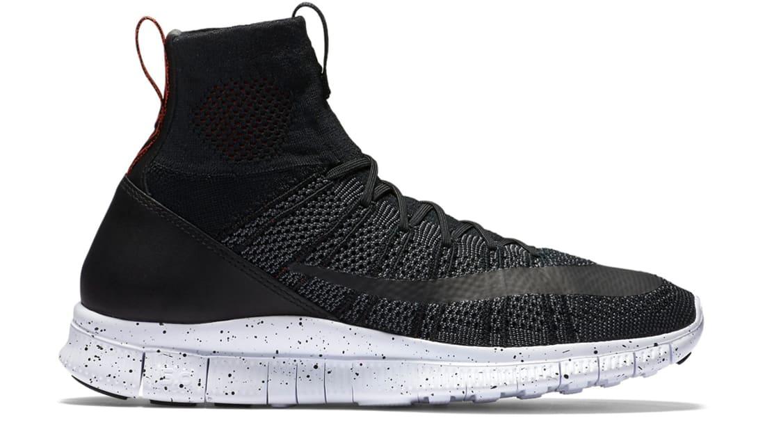 Nike Superfly Mercurial FC Sneakers (Black/Black-Dark Grey-Team Orange)