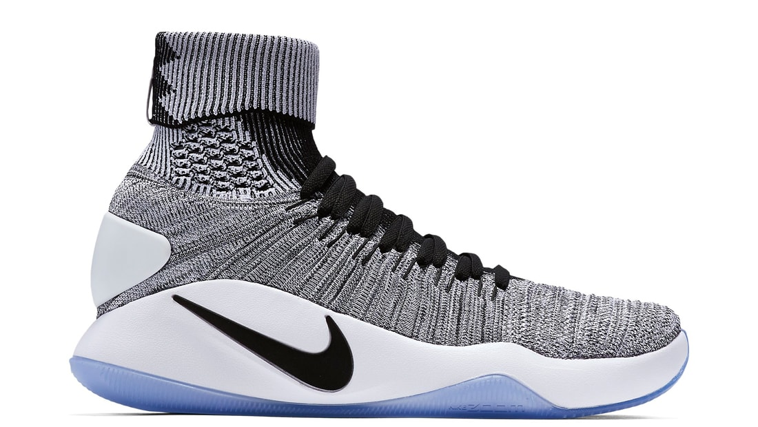 Nike Hyperdunk 2016 Flyknit Black White