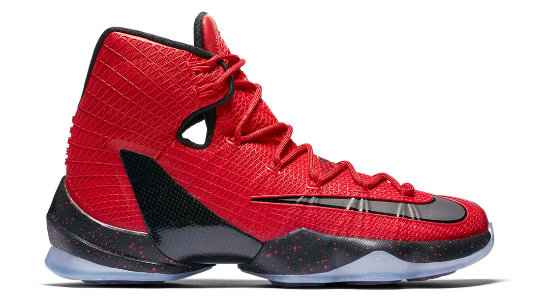 Real Lebron James 13 Elite University Red Bright Crimson Black
