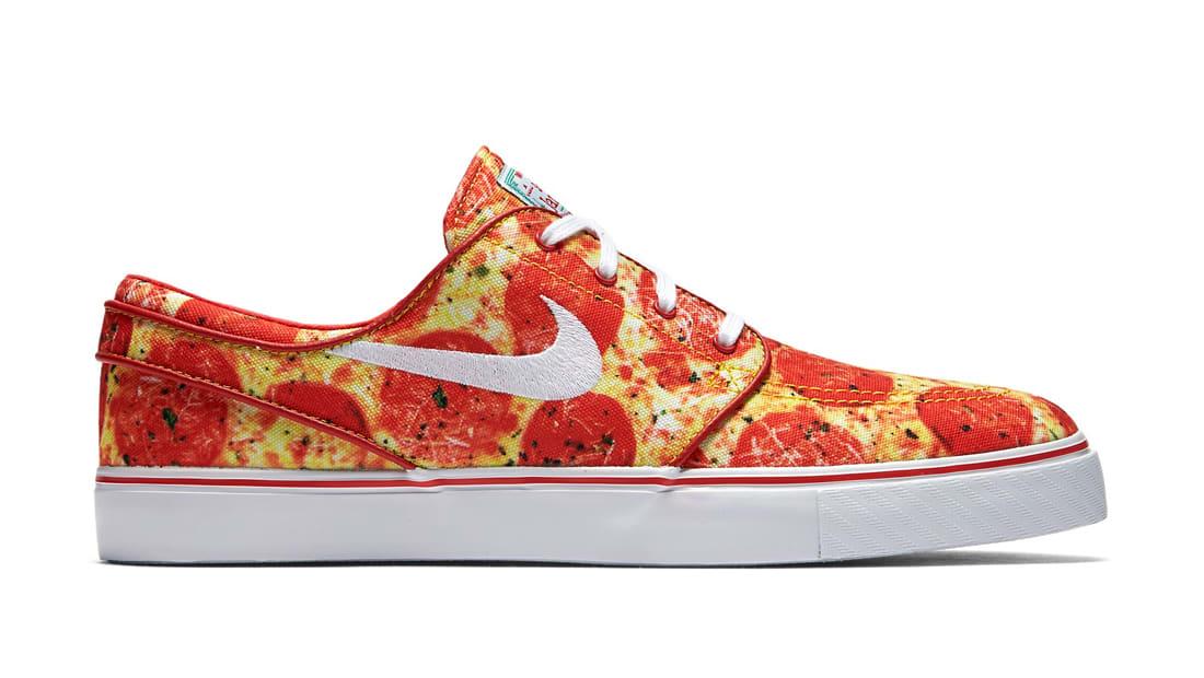 Nike SB Stefan Janoski Skate Mental Pepperoni Pizza Sneakers (University Red/White-White)