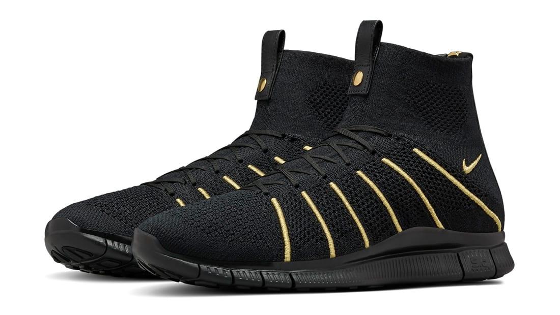 2018 Nike Flyknit Mercurial Superfly Gold Olivier Rousteing 834906 007 Schwarz Schuhe