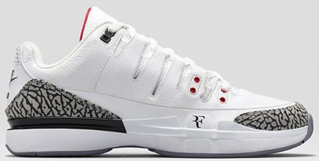 News Nike Zoom Vapor AJ3 WhiteFire RedCement Grey  All Release Dates  Nike Releases Dates Air Jordan Releases Adidas Release Dates