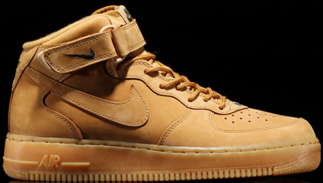 nike air force wheat mid