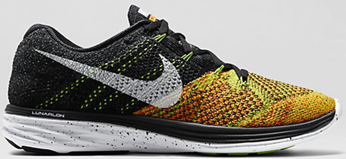 1a9c81d7332f ... News Nike Flyknit Lunar 3 BlackElectric Green-Total Orange-White. ×.