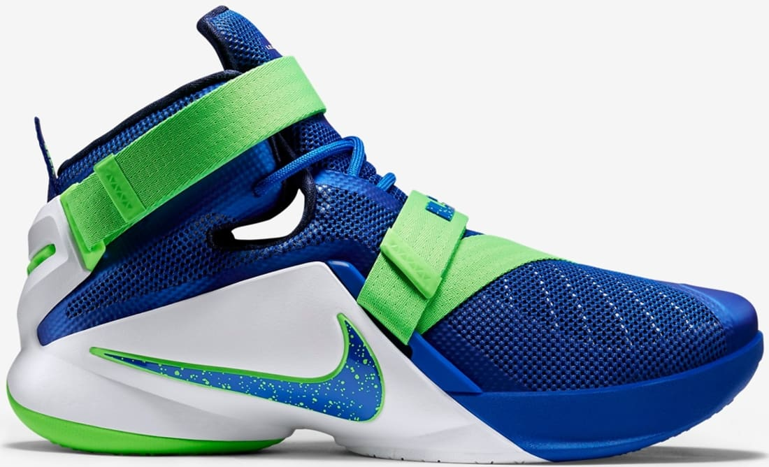 Nike LeBron Soldier 9 Game Royal White Green Strike