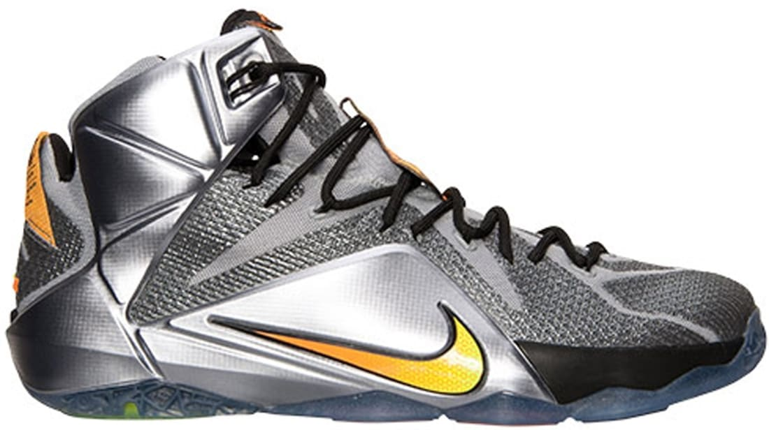 LEBRON 12 Wolf Grey/Black/Bright Citrus
