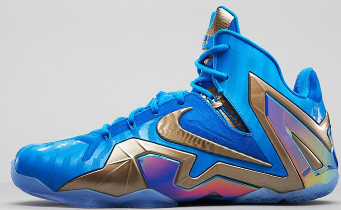 Nike LeBron 11 Elite Maison 3M Blue Sneakers (Blue Hero/Metallic Zinc-Ice)