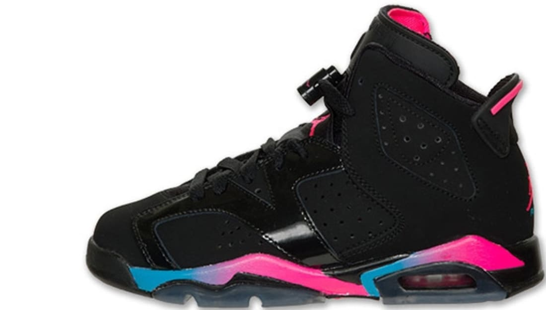 Air Jordan Retro 6 Black Pink Blue