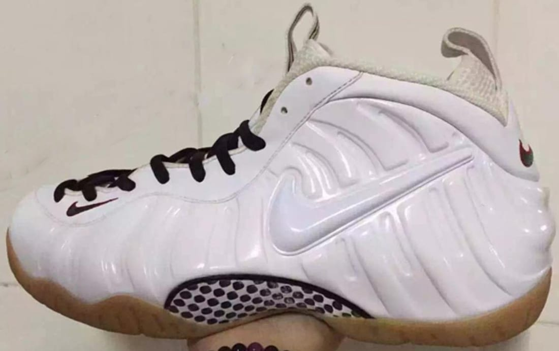 Nike Air Foamposite Pro White Gym Red Gorge Green