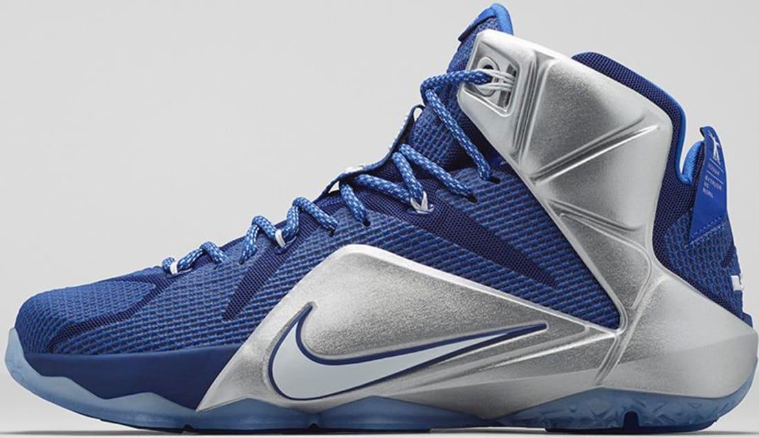Nike LeBron 12 What If Sneakers (Deep Royal Blue/Metallic Silver/Lyon Blue/White)