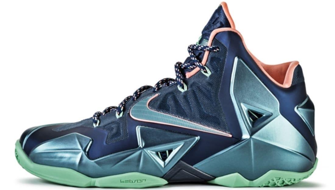 Nike Lebron 11 XI Miami Vs Akron Brave Blue Teal Pink
