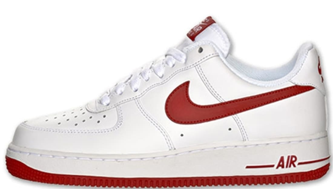 nike air forces white and red