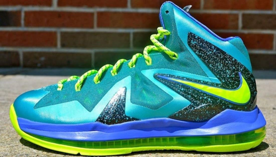 Nike LeBron X PS Elite Blau Schwarz Grün