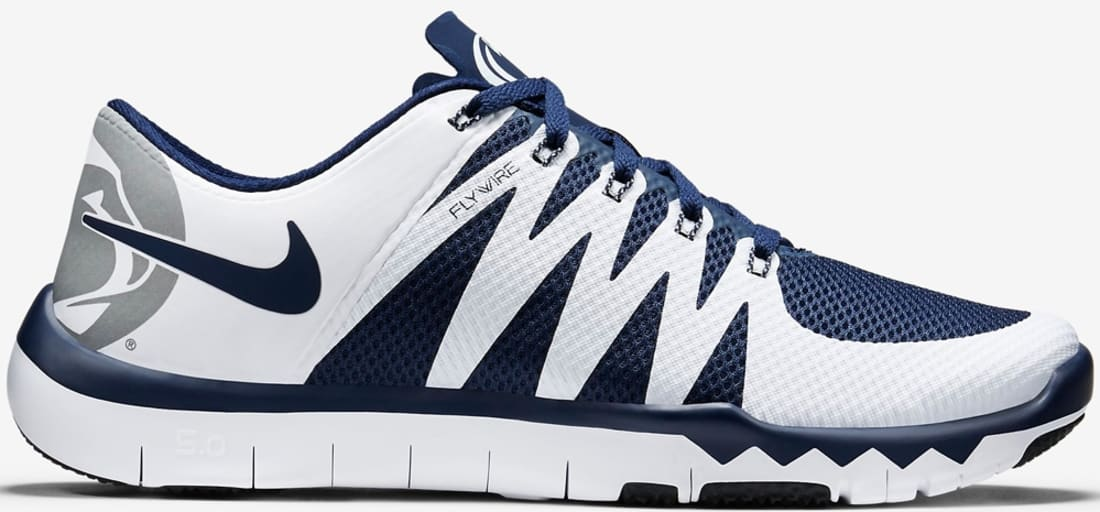 all white nike free trainers college