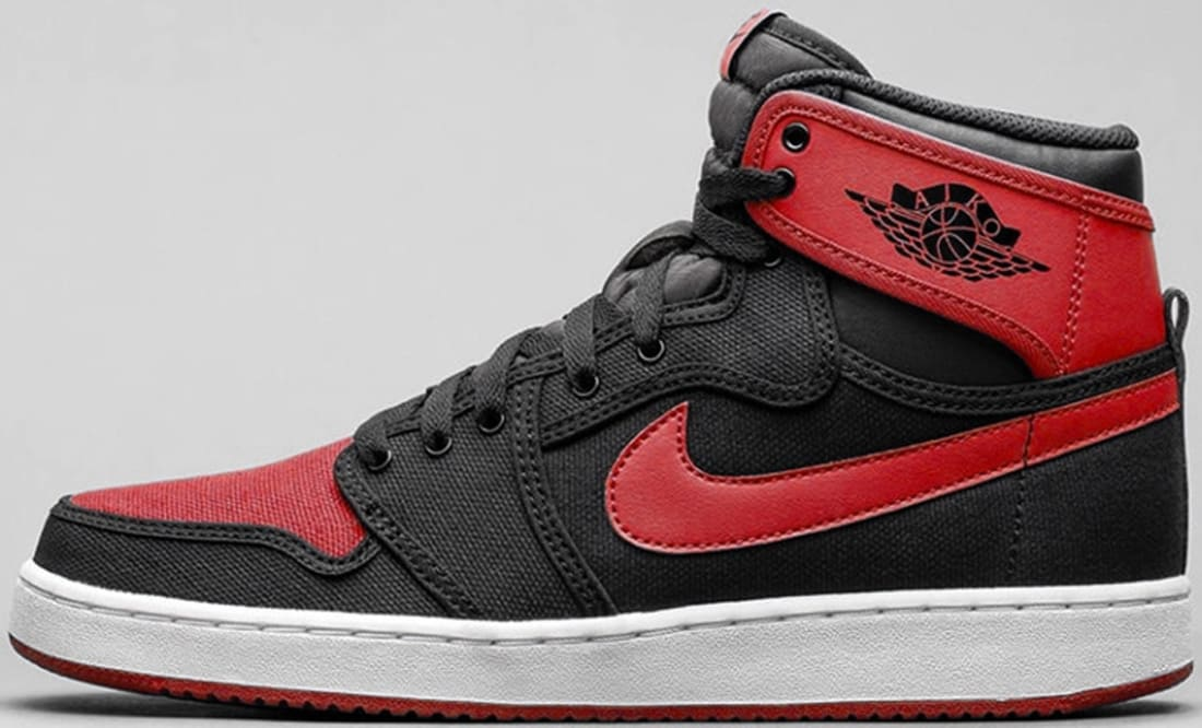 the air jordan 1 retro high ko black/red