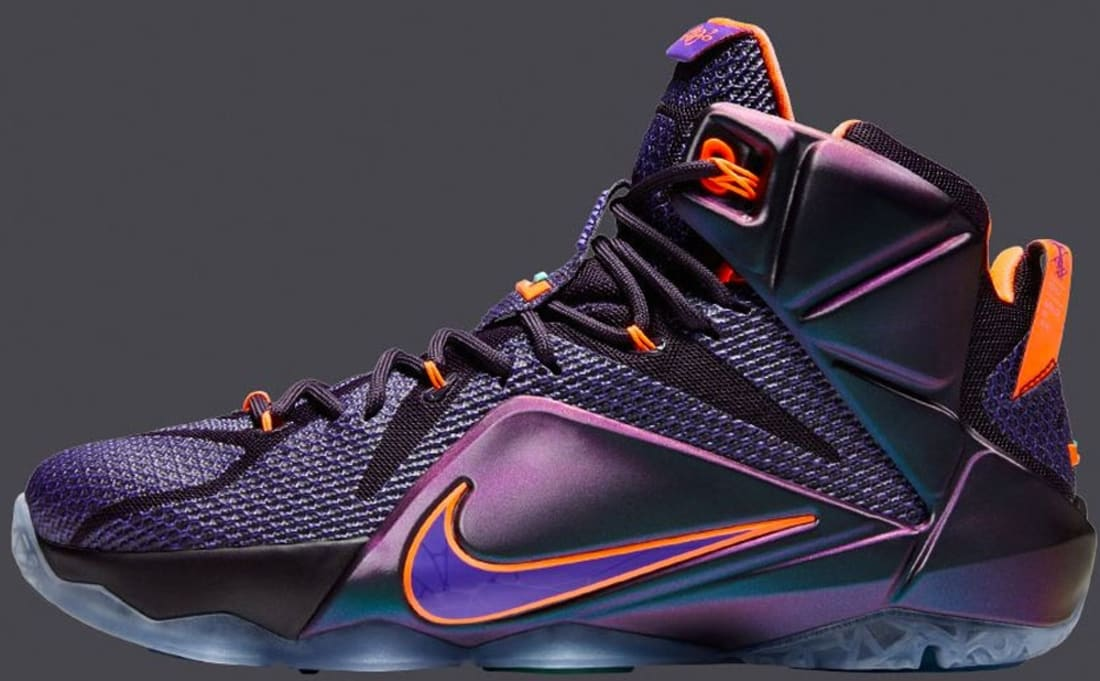 LEBRON 12 Cave Purple/Hyper Crimson/Hyper Turquoise/Hyper Grape