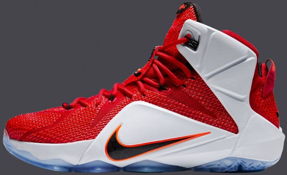 nike lebron 12 red white