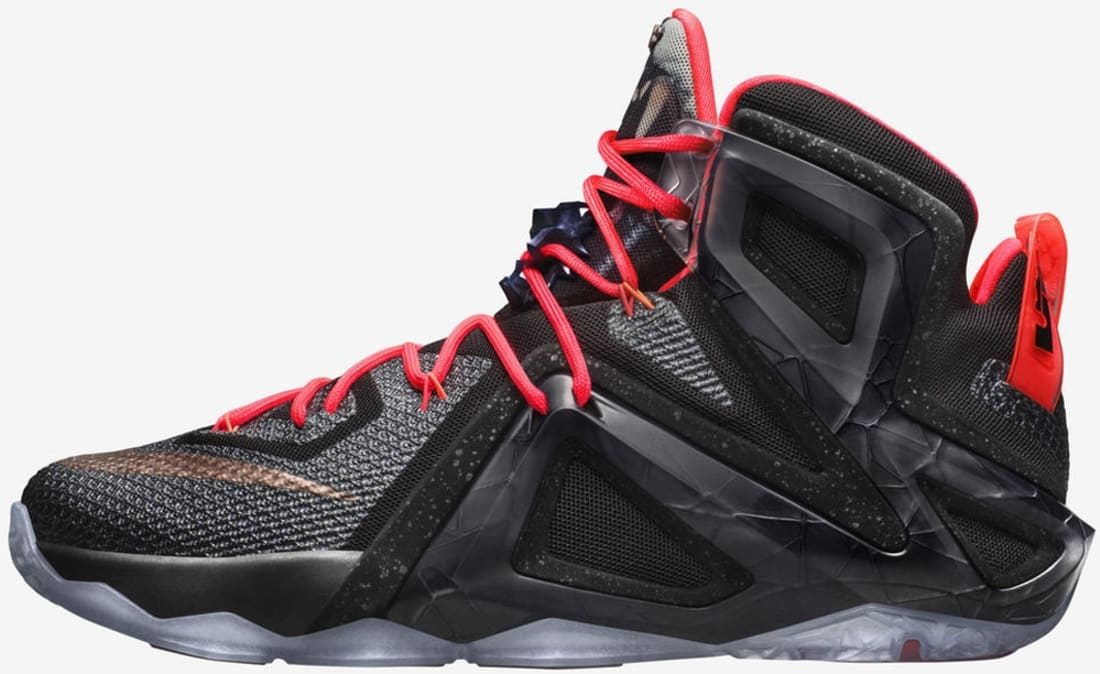 LeBron XII Elite Black/White/Hot Lava/Metallic Red Bronze