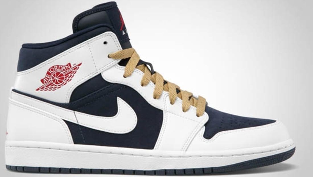 Nike Air Jordan 1 Phat Obsidian/Gym Red-White Sneakers  3125749