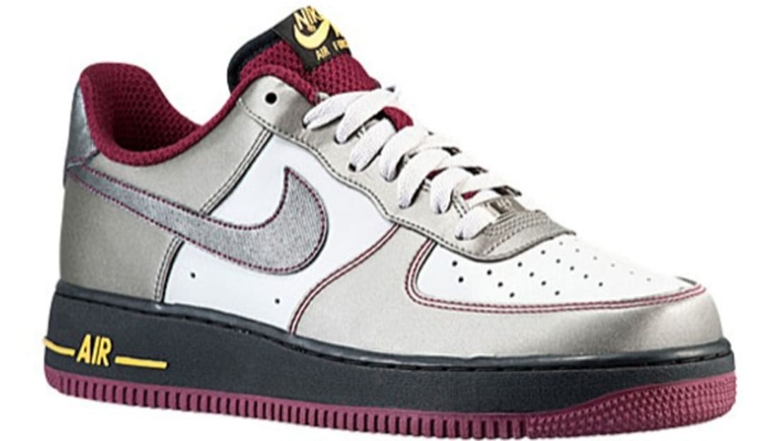 Nike Air Force 1 Low Dusty Grey Metallic Pewter Cherrywood