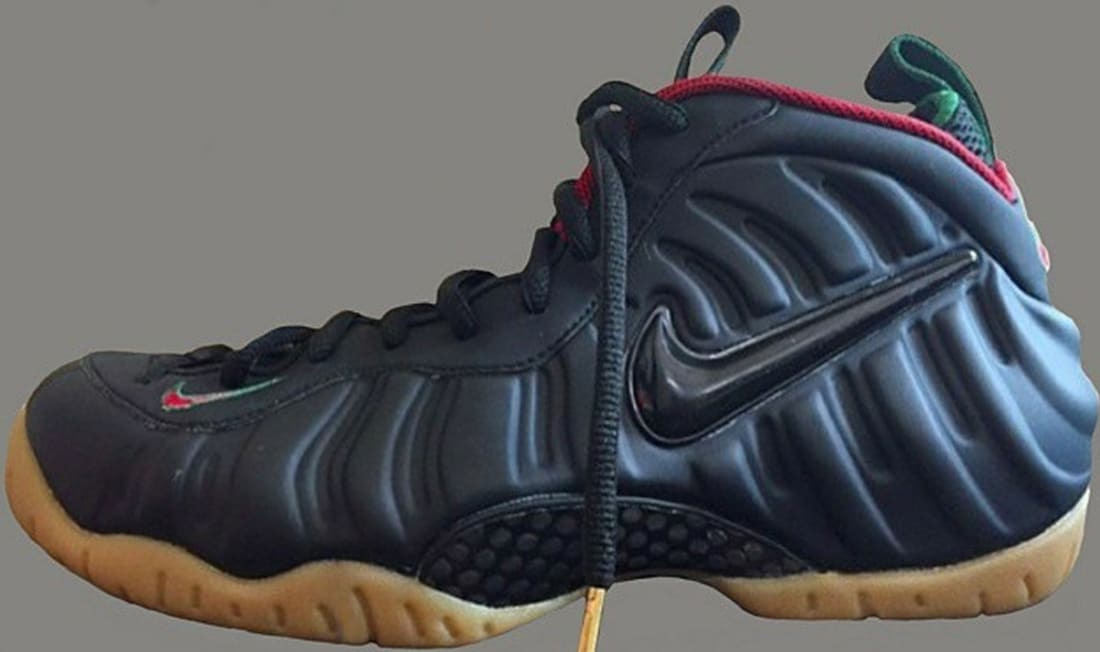 d176b302996 Nike Air Foamposite Pro Black Gorge Green-Metallic Gold-Gym Red