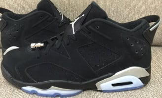 air jordan 6 low black metallic