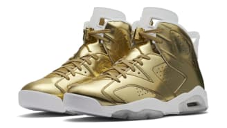 Nike Air Jordan 6 Retro Pinnacle - Metallic Gold/White