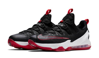 nike lebron 13 black red