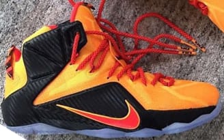 LEBRON 12 Laser Orange/Black/Green Glow