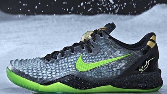 353bb7e8d2f2 Nike Kobe 8 System SS Black Electric Green-Cool Grey-Metallic Gold ...
