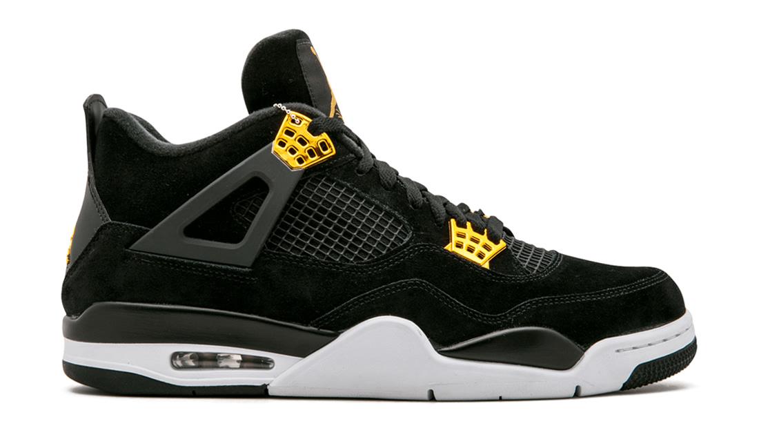 Air Jordan Iv  Retro Mens Shoes Black Grey