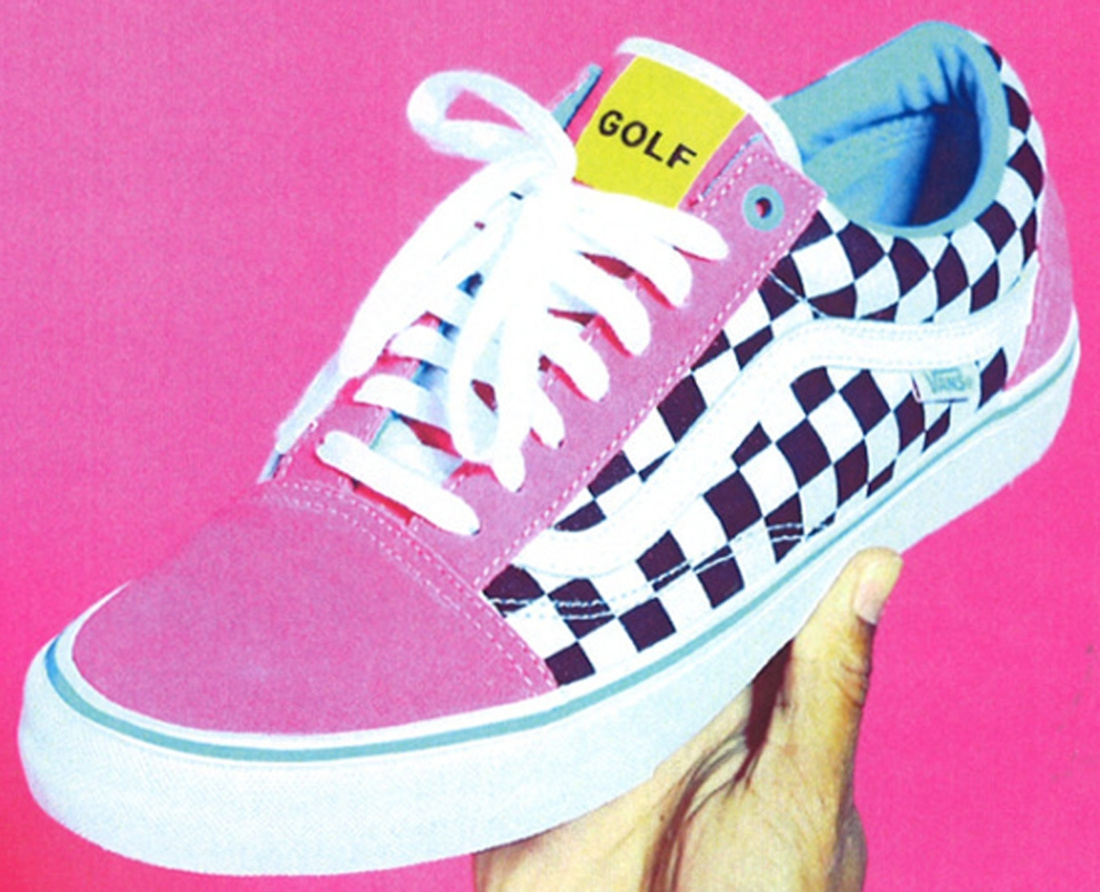 vans old skool checkerboard pink