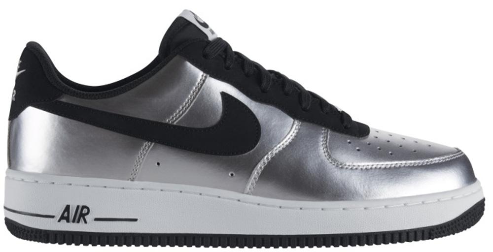 Nike Air Force 1 Low Metallic Silver/Black-White