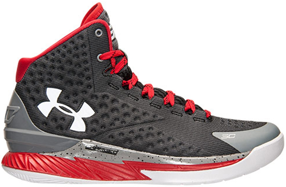 Under Armour Curry One Silver/Red