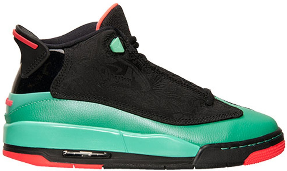 Jordan Dub Zero Girls Black/Infrared-Verde