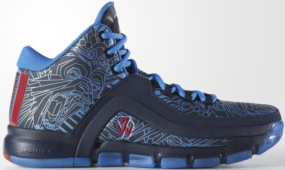 adidas J Wall 2 College Navy/Vivid Red-Shock Blue