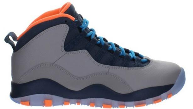Air Jordan 10 Retro Wolf Grey/Dark Powder Blue-New Slate-Atomic Orange