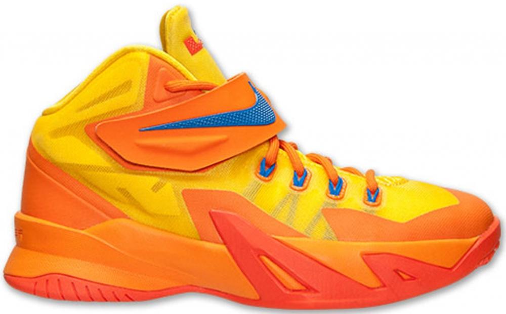 Nike Zoom Soldier VIII GS Tour Yellow/Hyper Cobalt-Copper Flash