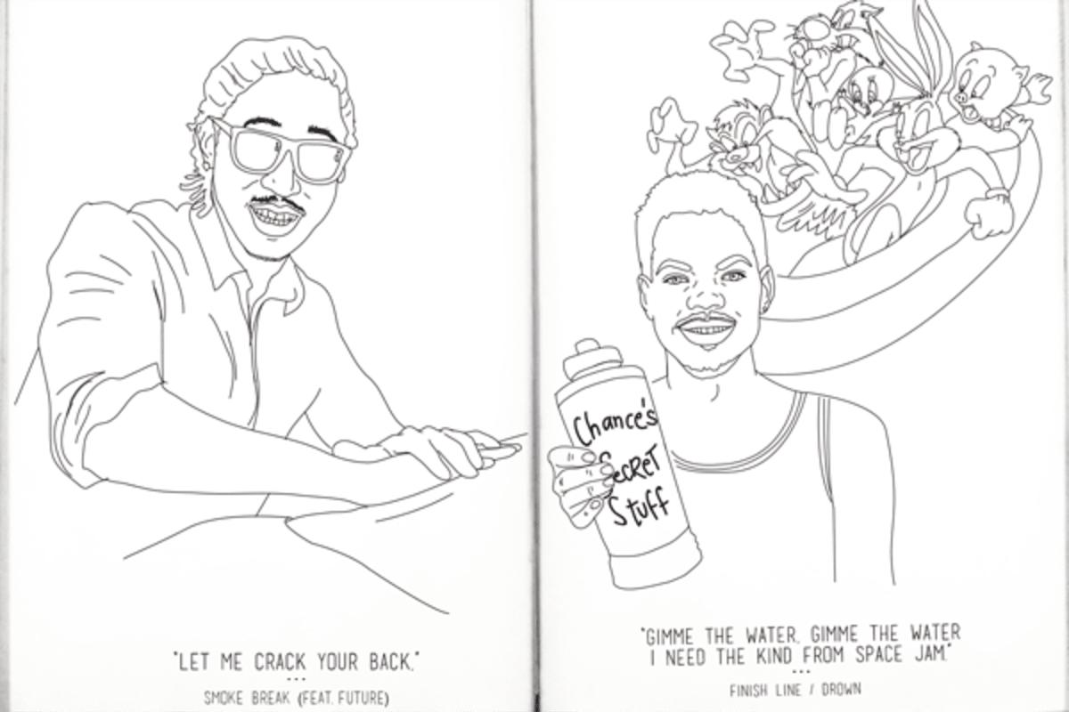 Download coloring book chance rapper mixtape - Chance The Rapper S Coloring Book Lyrics Are Now A Coloring Book Pigeonsandplanes