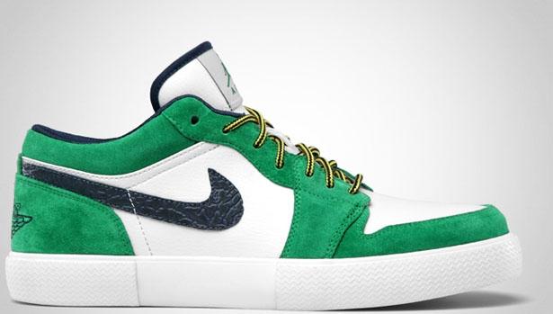 Jordan Retro V.1 Court Green/Midnight Navy-White