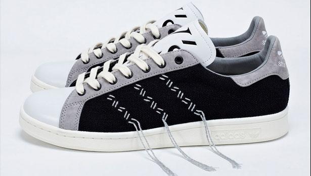 adidas Consortium Stan Smith Black/Aluminum-Legacy White