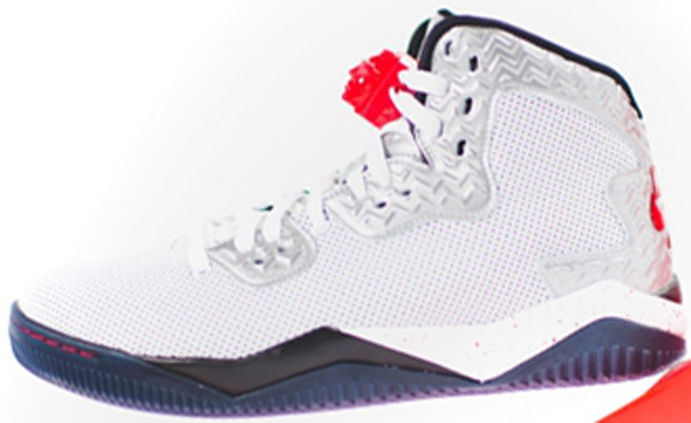 Air Jordan Spike Forty PE White/Fire Red-Black