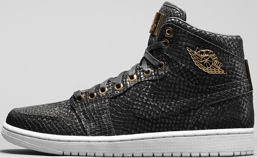 Air Jordan 1 Retro High OG Pinnacle Black/Black-Metallic Gold-White