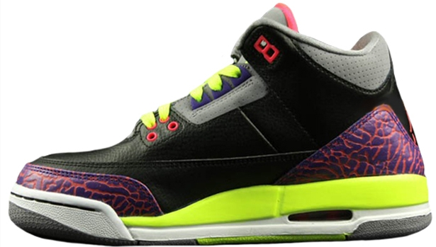 Girls Air Jordan 3 Retro GS Black/Atomic Red