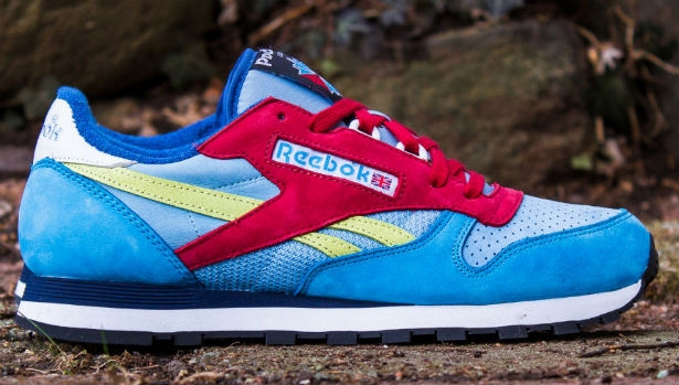 Reebok Classic Leather Blue/Citron-Red