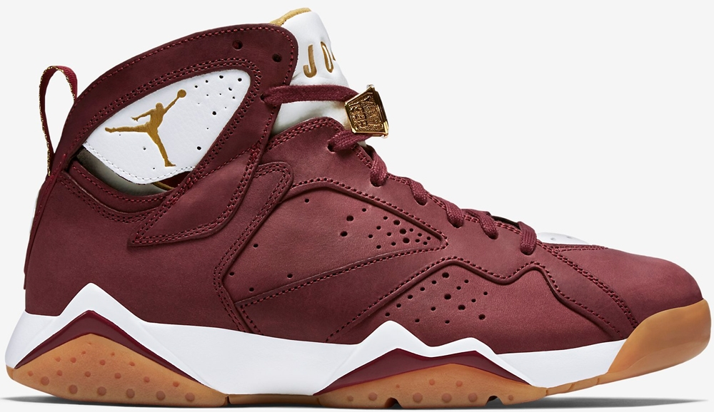 Air Jordan 7 Retro C&C Team Red/Metallic Gold-Sail-Gum Light Brown